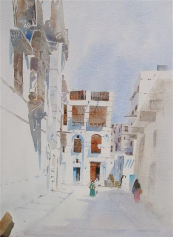 http://www.spencerwtart.com/Pics/Originals/20-5KH%20ST.%20IN%20OLD%20JEDDAH.JPG